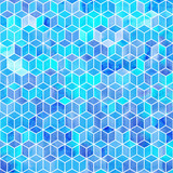 Watercolor mosaic. Bright summer pattern with watercolor cubes. - 189731928