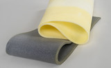 paralon gray and yellow on a white background,polyurethane foam - 189739956