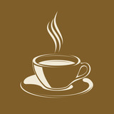 Smoking Hot Coffee Cup vector illustration