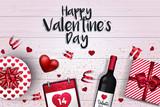 Valentines day card - 2018 4 - 189752771