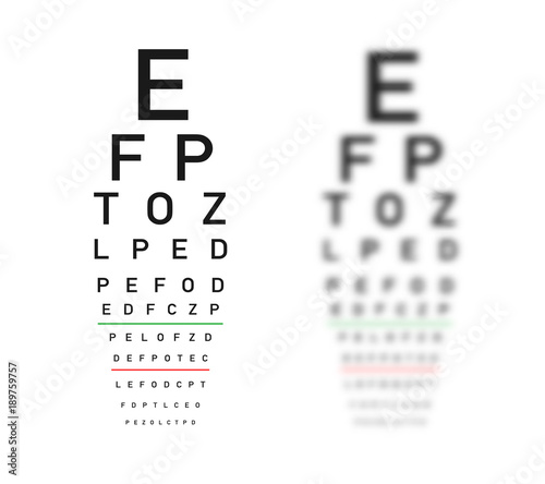Eye Test Chart Focus And Defocus Variants Buy Photos Ap Images