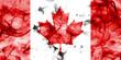 Canada smoke flag