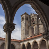 Tomar castle of the Knights Templar, Portugal. - 189761593