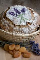 Apricot, Lavender and Walnuts Sourdough Bread