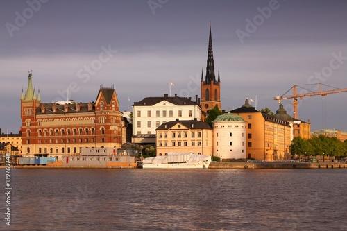 Foto op Canvas Stockholm Stockholm sunset light