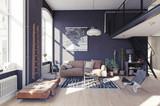 modern living room interior. - 189771959