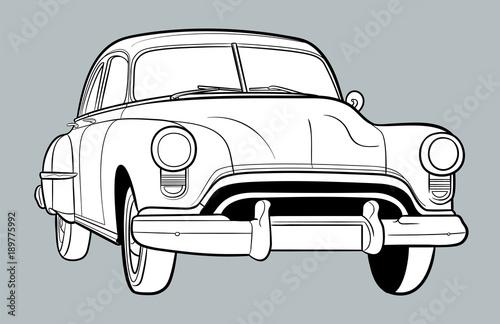 rysunek-bialego-samochodu,-plakat,-tlo