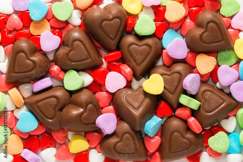 Pile of Assorted Valentines Day Candy