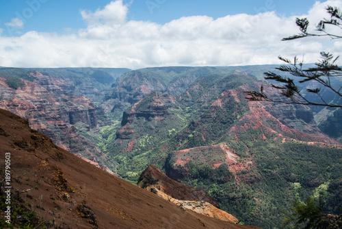 Fotobehang Diepbruine Island Canyons