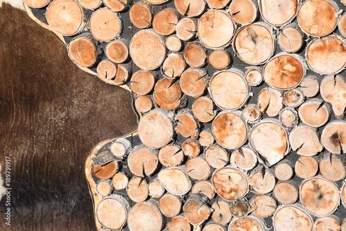 Foto op Canvas Brandhout textuur MONTAGNA