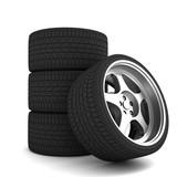 car tire concept  3d illustration
