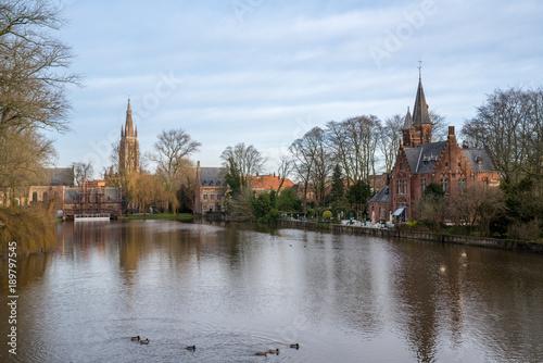 Fotobehang Brugge Bruges