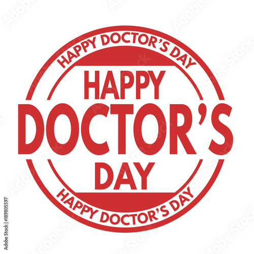 Happy doctor's day sign or stamp