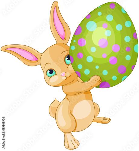 Fotobehang Meisjeskamer Easter Bunny