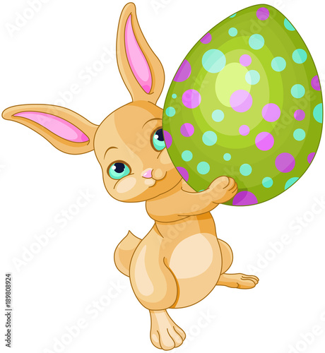 Foto op Canvas Sprookjeswereld Easter Bunny