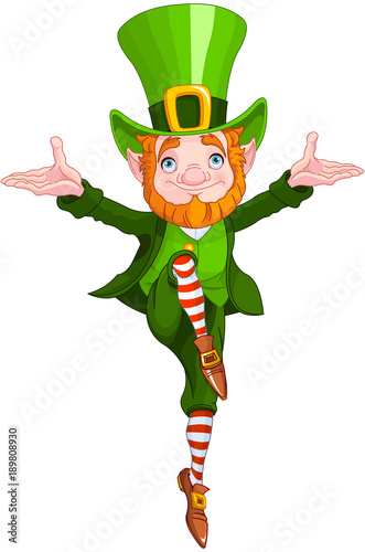 Fotobehang Meisjeskamer Lucky Dancing Leprechaun