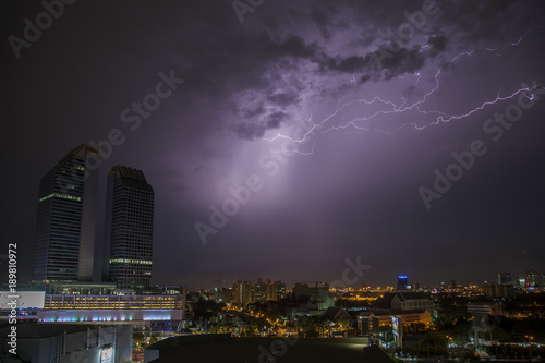 Fotobehang Bangkok Thunderstorm