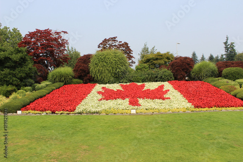 Foto op Canvas Pistache Canada Border Canadian Flag Flowers