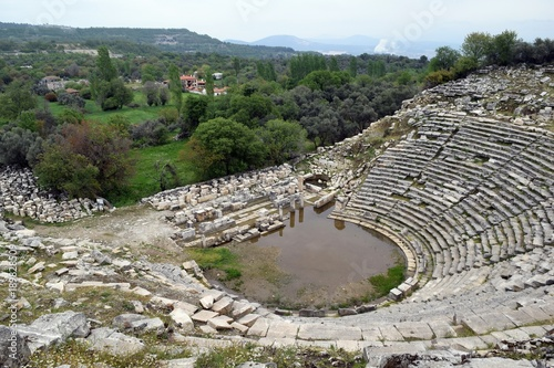Foto op Plexiglas Grijs Antique theater in ancient city of Stratonikeia