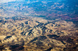 Aerial view of African continent with mountain ranges