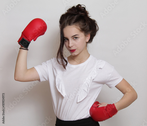 woman, boxer, young, fitness, face, pretty