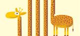 Giraffe with long neck. vector illustration. - 189842134