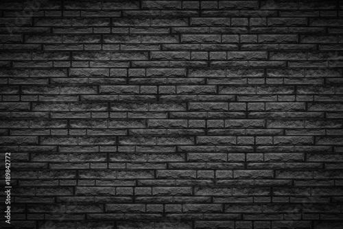 © PixlMakr - Fotolia.com Black brick wall - Dark background