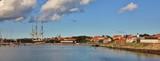Fregatten Jylland and harbour of Ebeltoft, Denmark. - 189846156