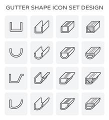 gutter shape icon