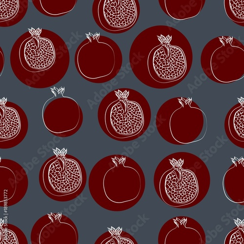 the pattern of a grenade, colored background