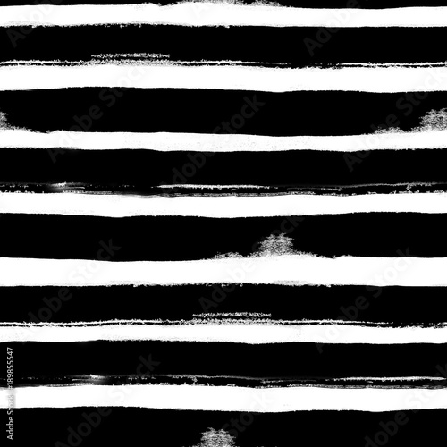 Materiał do szycia Black stripes. Seamless pattern. Abstract background