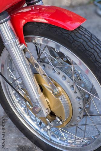 Fotobehang Fiets Vintage drum brake