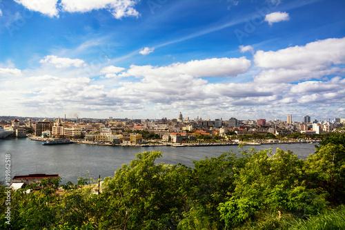 Keuken foto achterwand Havana Skyline of Old Havana and downtown Havana