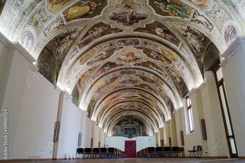 Plexiglas Napels Sala Sisto V, in the monumental complex of San Lorenzo Maggiore of Napoli, Italy