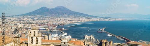 Tuinposter Napels Naples skyline from Castel Sant'Elmo, Italy