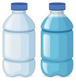 Two bottles with and without water - 189864907