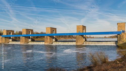 Ruhrwehr, bridge over the River Ruhr in Duisburg, North Rhine-Westphalia, Germany - 189867147