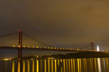 Bridge of Lissabon at night