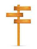 Wooden sign post - 189875149