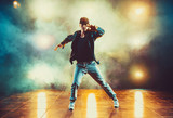 Young man dancing - 189877175