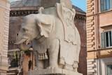 Elephant and Obelisk in Piazza della Minerva in Rome, Italy