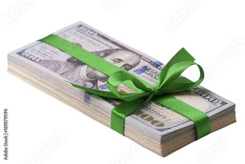 Dollar banknotes, bow