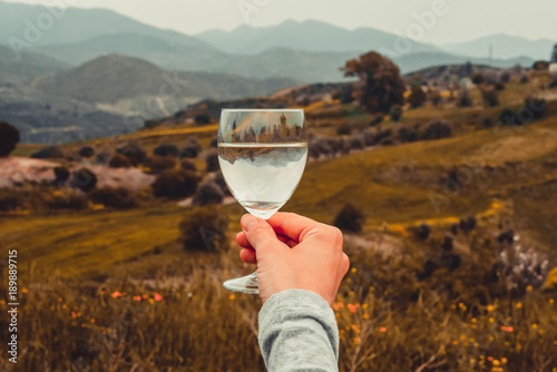 Fotobehang Cyprus Wine glass