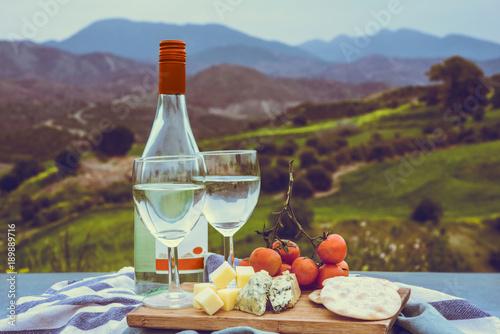 Fotobehang Cyprus Wine bottle