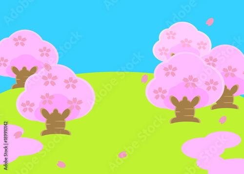 Fotobehang Purper 春の風景
