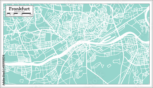 Frankfurt Germany City Map in Retro Style. | Buy Photos | AP Images ...