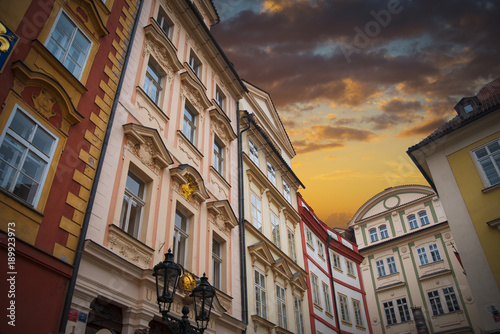 Deurstickers Praag beautiful old streets of Prague.
