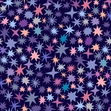 Vector seamless pattern with star. Cosmic, universe, space