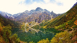 view of the colorful sea eye in the Tatra Mountains - 189930953