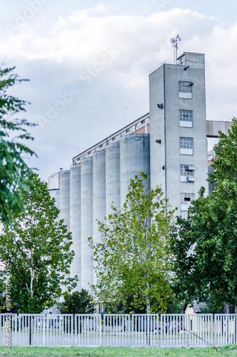 Foto op Canvas Oude verlaten gebouwen Abandoned buildings bread factory